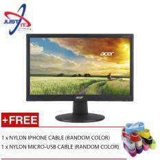 ACER EB192QB 18.5 LED LCD MONITOR + FREE 2 NYLON CABLE (IPHONE AND MICRO USB) Malaysia