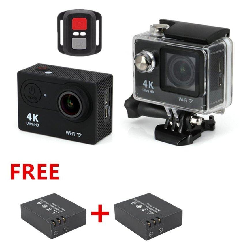 Microeco Action Camera 4K 1080P Ultra HD WiFi Sports camera Helmet Video Cam waterproof 4K WIFI Sports Action Camera Ultra HD Waterproof DV Camcorder 12MP 170 Degree Wide Angle 2 inch LCD Screen