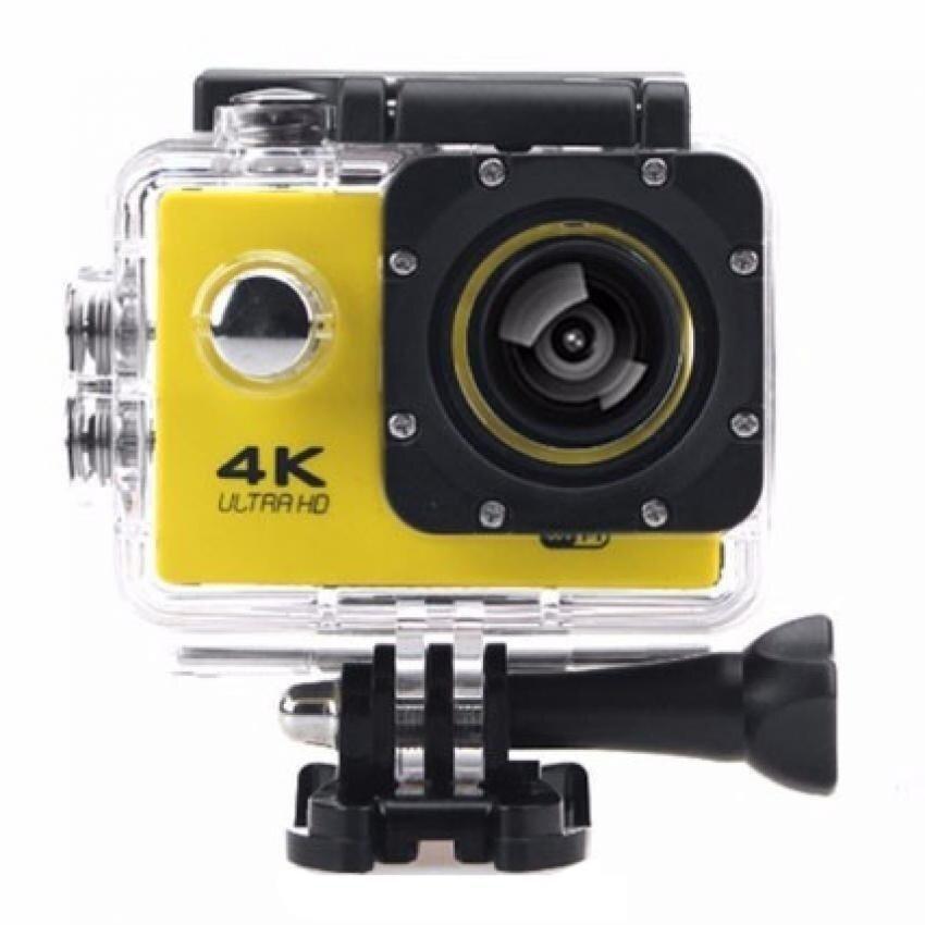 Action camera F60 Ultra HD 4K WiFi Underwater 30M Sports Camera2.0LCD 1080p 60fps Camera Car Recorder elmet Cam DivingSportsDV(Yellow)