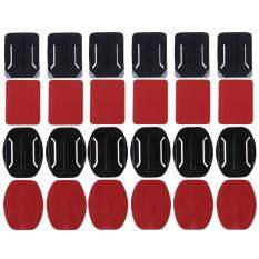 [cheerfulhigh]adhesive Mounts For Gopro Hero Flat Curved Base Helmet Mount 24pcs 3m(red) By Cheerfulhigh.