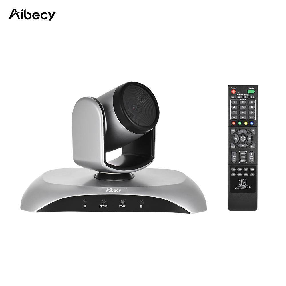 Aibecy 1080P HD Conference Camera USB Plug & Play 350� Rotation with Remote Control Power Adapter for Video Meetings Training Teaching - intl