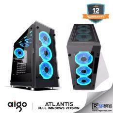 Aigo Atlantis Full Window (2 Side Tempered Glass + 3pcs LED Fan) [ATX, Matx, Mini-ITX] Malaysia