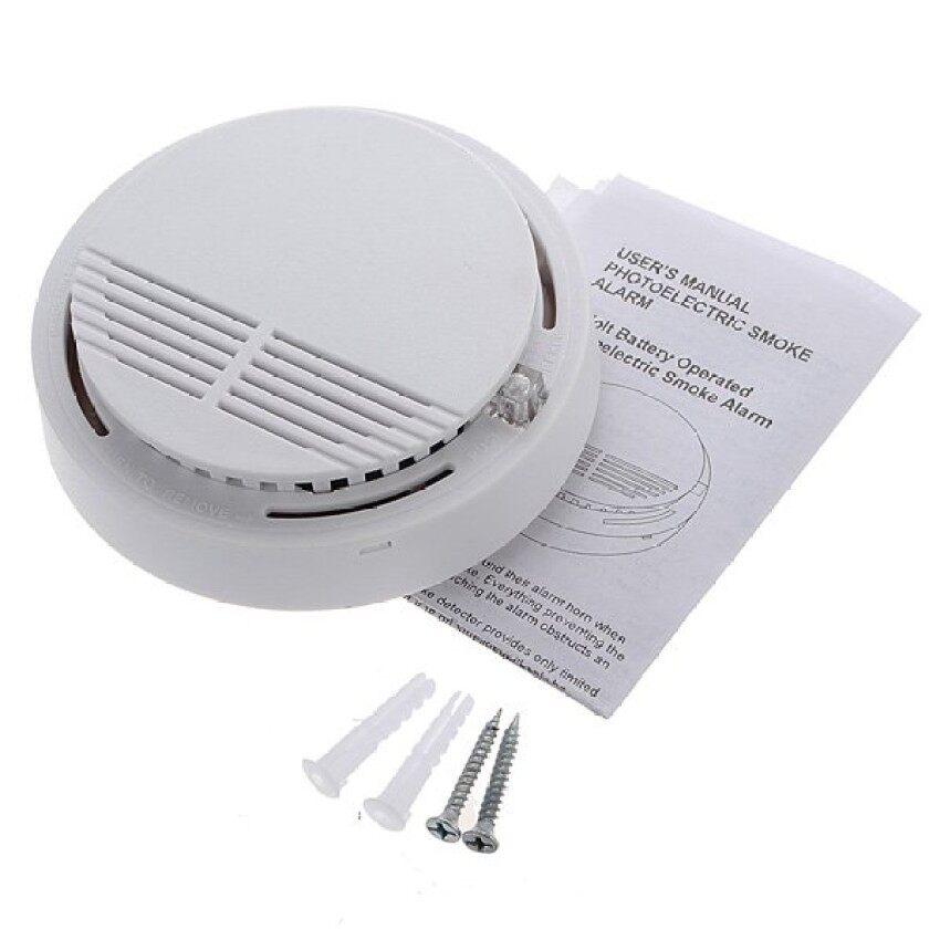AirTop 5 Pcs Nirkabel Cordless Asap Detector Home Security Fire Alarm Sensor Baterai Sistem-Intl