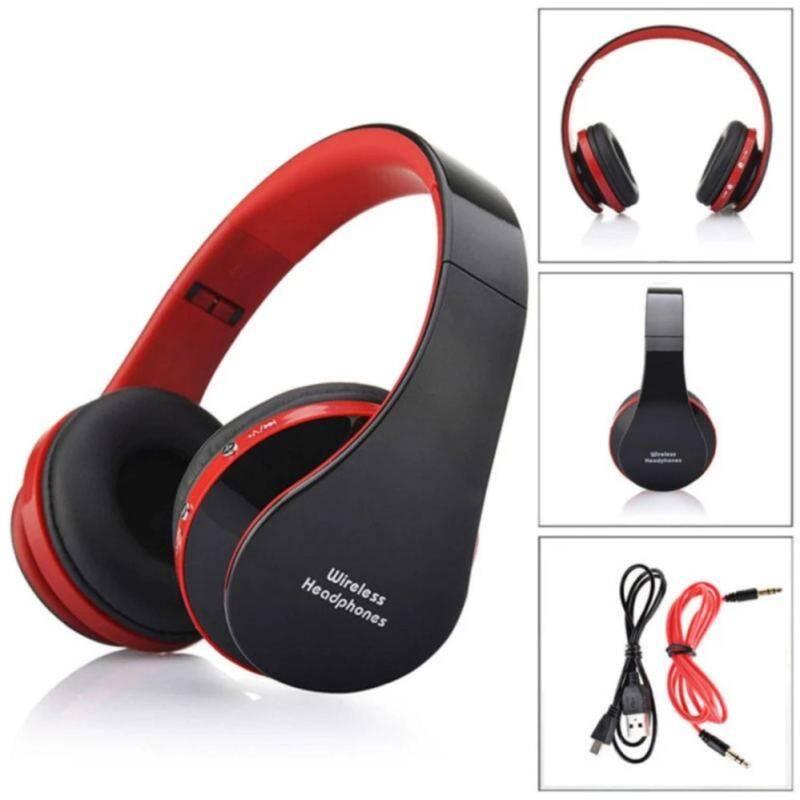 Rp 334.000. Ajkoy NX-8252 Nirkabel Bluetooth Earphone Big Casque Audio Headphone Nirkabel Headset untuk Komputer Kepala Ponsel PC dengan ...