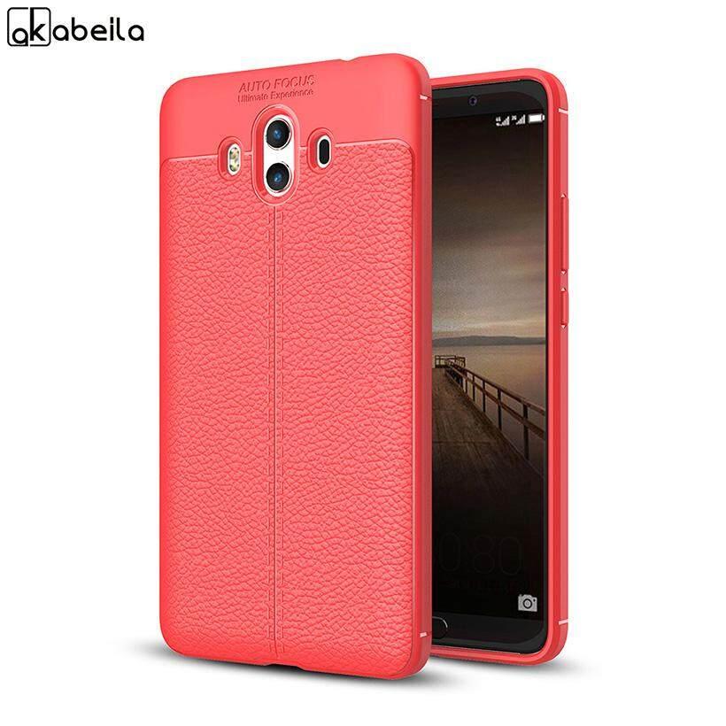 AKABEILA Luxury Litchi Pattern TPU Leather Phone Case For Huawei Mate 10 ALP-L09 ALP