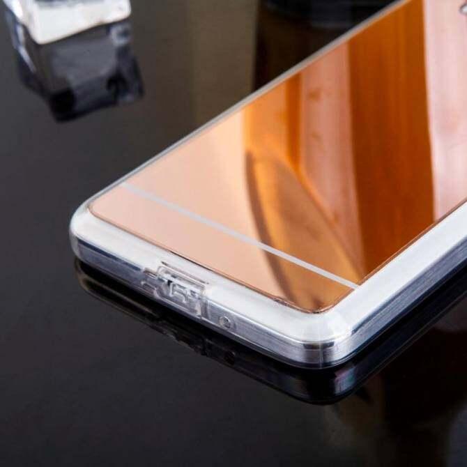 AKABEILA Luxury Metal Phone Case For Samsung Galaxy Grand Prime G530F 5.0 inch Plating TPU Frame+Mirror Back ...