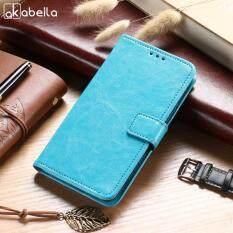 Akabeila Telepon Kulit PU Case S untuk ZTE Grand X3 4G Z959 Z959L 5.5 Inch Dompet Flip Cangkang Pelindung Ponsel Cover Tempat Kartu Smartphone Case Anti -Debu Sarung Selular