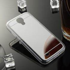 AKABEILA Soft Mirror TPU Silicone Back Phone Case For Samsung I9500 Galaxy S4 SIV I9505 GT-I9500 S4 CDMA SCH-I545 5.0 inch Clear Silicon Mirror Soft TPU Phone Case Silicone Back Cover