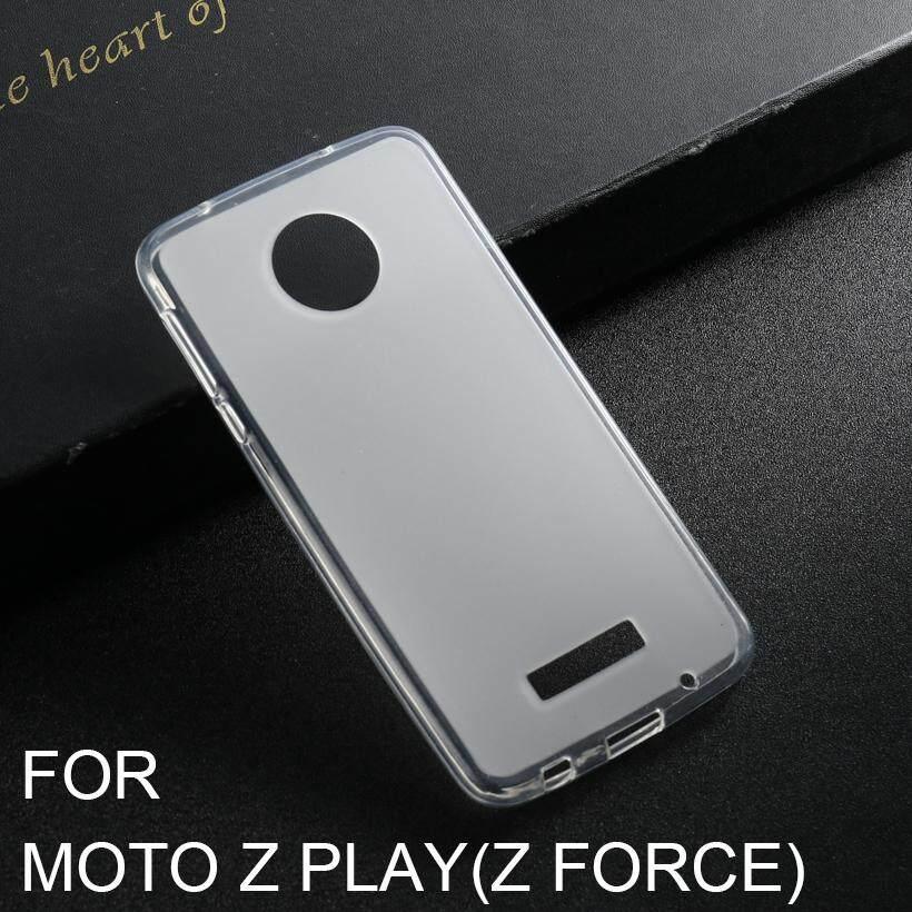 Akabeila Ponsel TPU Lembut Case S untuk Moto Rola Moto Z Bermain Droid 2016 Vertex Moto X 4 XT 1635-03 XT1635 Mo 5.5 Inch Covers Tahan Kotoran Tas Shockproof Case Silikon Putih Smartphone Case Penuh Melindungi Penutup Belakang-Intl