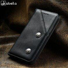 Akabeila Dompet Kulit Imitasi Antik Telepon Case S untuk Nokia 3 5.0 Inch Covers Klasik Retro PU Ku