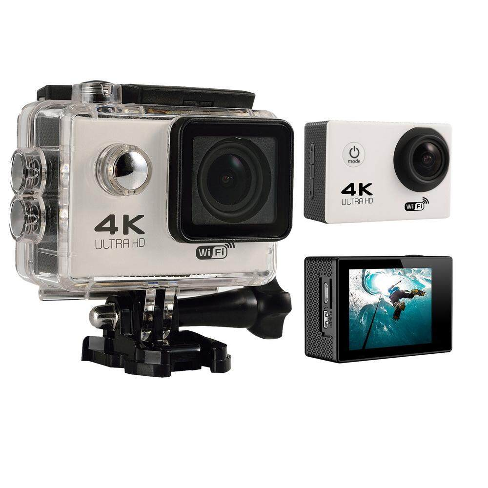 akerfush 4K HD Wifi Action Camera 2.0 Inch 170 Degree Wide Angle Lens Action Camera WIFI 4k Waterproof Sports Action Camera (White) - intl