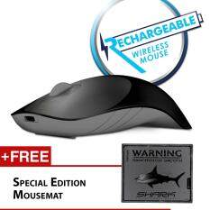 Alcatroz Air Shark 2.4G Rechargeable Wireless Mouse Free Special Edition Mousemat (Black/Grey) Malaysia
