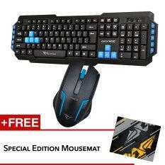 Alcatroz M550 and Asic 5 Multimedia Keyboard Mouse combo Free Mousemat (Blue) Malaysia