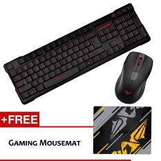 Alcatroz Xplorer Air 1000 Multimedia Wireless Gaming Keyboard Mouse Combo (Red) Malaysia