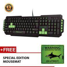 Alcatroz Xplorer M550 Multimedia USB Keyboard Free Mousemat (Green) Malaysia
