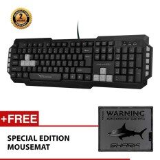 Alcatroz Xplorer M550 Multimedia USB Keyboard Free Mousemat (Grey) Malaysia