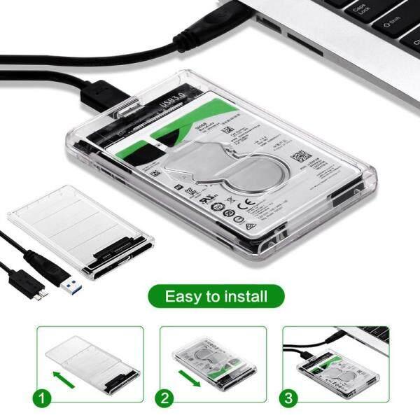 Bảng giá Hộp Đựng Ổ Cứng SSD USB 3.0 Sang SATA Tốc Độ Cao Trong Suốt Kèm Theo Ổ Cứng Phong Vũ