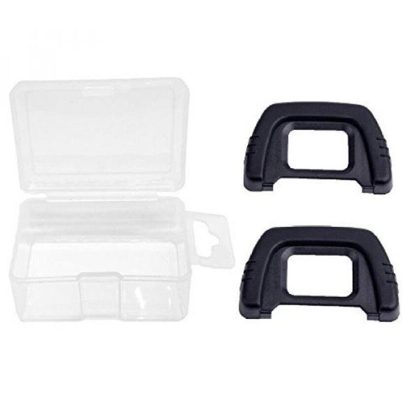 Alliebe Dk-21 Eyecup Lensa Mata Viewfinder untuk Nikon D7000 D600 D610 D200 D90 D80 D70s D70 D50 D40 (2 Pack) dengan Alliebe Mini Kotak Penyimpanan-Internasional
