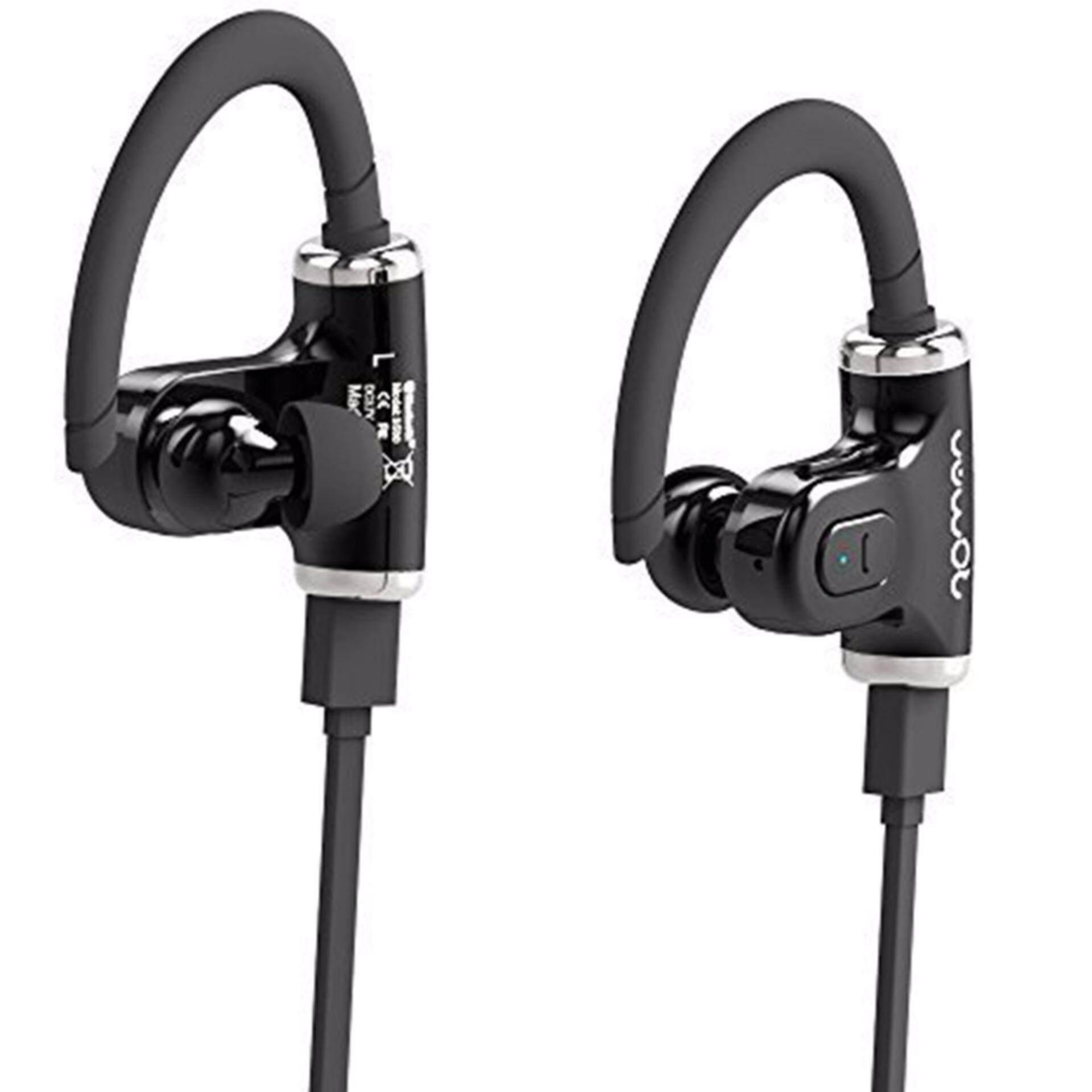 Allimity 2 Xpack Nirkabel Bluetooth Hai Fi Stereo Headphone dengan Mikrofon untuk Ponsel Pintar (Hitam