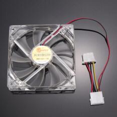 Allwin Kipas Pendingin CPU With 4 Lampu LED 120mm, Mudah Dipasang, 12 V-Pengiriman Internasional