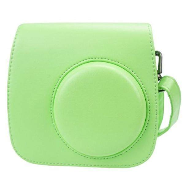 Alohallo Instax Mini 8/8 +/9 Koffer Pu Leder Konter Tasche F? R Fujifilm Instax Mini 8 Instan Film Kamera MIT Schulterriemen Und Tasche-Lime Green-Intl