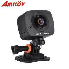 AMKOV AMK200S 8 Megapixels Panorama Dual Lens WiFi Action Sport Camera 1290 x 960P LCD Screen TF Card Slot