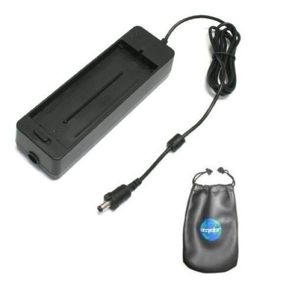 Amsahr C-NBCP2L Digital Pengganti Mini Pengisi Daya Di Perjalanan untuk Canon NB-CP2L, NB-CP1L, SELPHY CP-100 dengan Lensa Tas Kecil Aksesoris (Abu-abu) -Intl