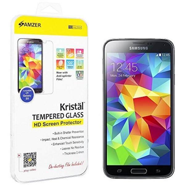Amzer Kristal HD Kaca Anti Gores Pelindung Layar Pelindung Gores Pelindung untuk Samsung Galaxy S5-