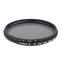Andoer 58mm Nd Fader Neutral Density Adjustable Nd2 To Nd400 Variable Filter For Canon Nikon Dslr Camera By Haitao.
