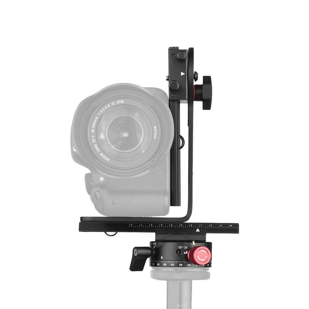 Andoer 720 Gelar Panorama Kepala Termasuk 360 Derajat Putar Panorama Indexing Rotator + 2 Cara Rail Slider + L Braket perlengkapan untuk Canon Nikon Sony DSLR Ildc Kamera Maksimum. kapasitas Beban 3Kg-Internasional