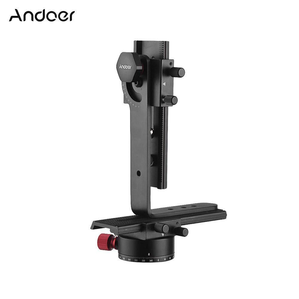 Andoer 720 Derajat Kepala Panorama Termasuk 360� Putar Panorama Pengindeksan Rotator + 2 Cara Rel Penggeser + L Bracket Perlengkapan untuk Canon Nikon Sony DSLR Ildc Kamera Max. kapasitas Beban 3Kg-Intl
