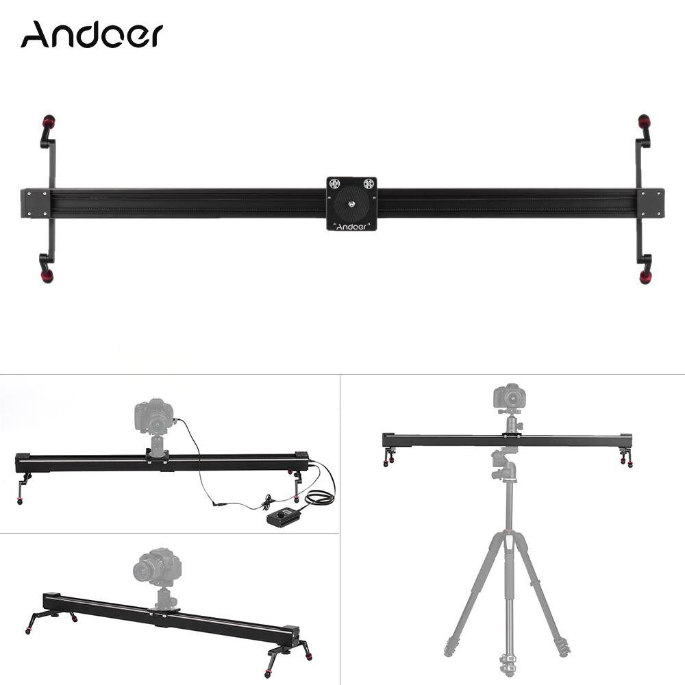 Andoer C3 1m/3.3ft Electric Control Time Lapse Photography Video DSLR Camera Slider Motorized Stabilizer Track Dolly Rail for Canon 7D 7DII 6D 50D 5DII 5DIII 5DS 5DSR 80D 760D 750D 700D 70D 650D 600D 60D 550D DSLR - intl