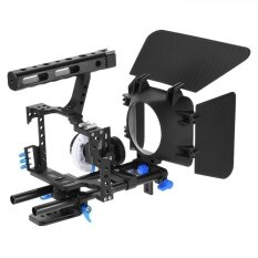Andoer C500 Aluminum Alloy Camera Camcorder Video Cage Rig Kit Film Making System with 15mm Rod Matte Box Follow Focus Handle Grip for Panasonic GH4 for Sony A7S/A7/A7R/A7RII/A7SII