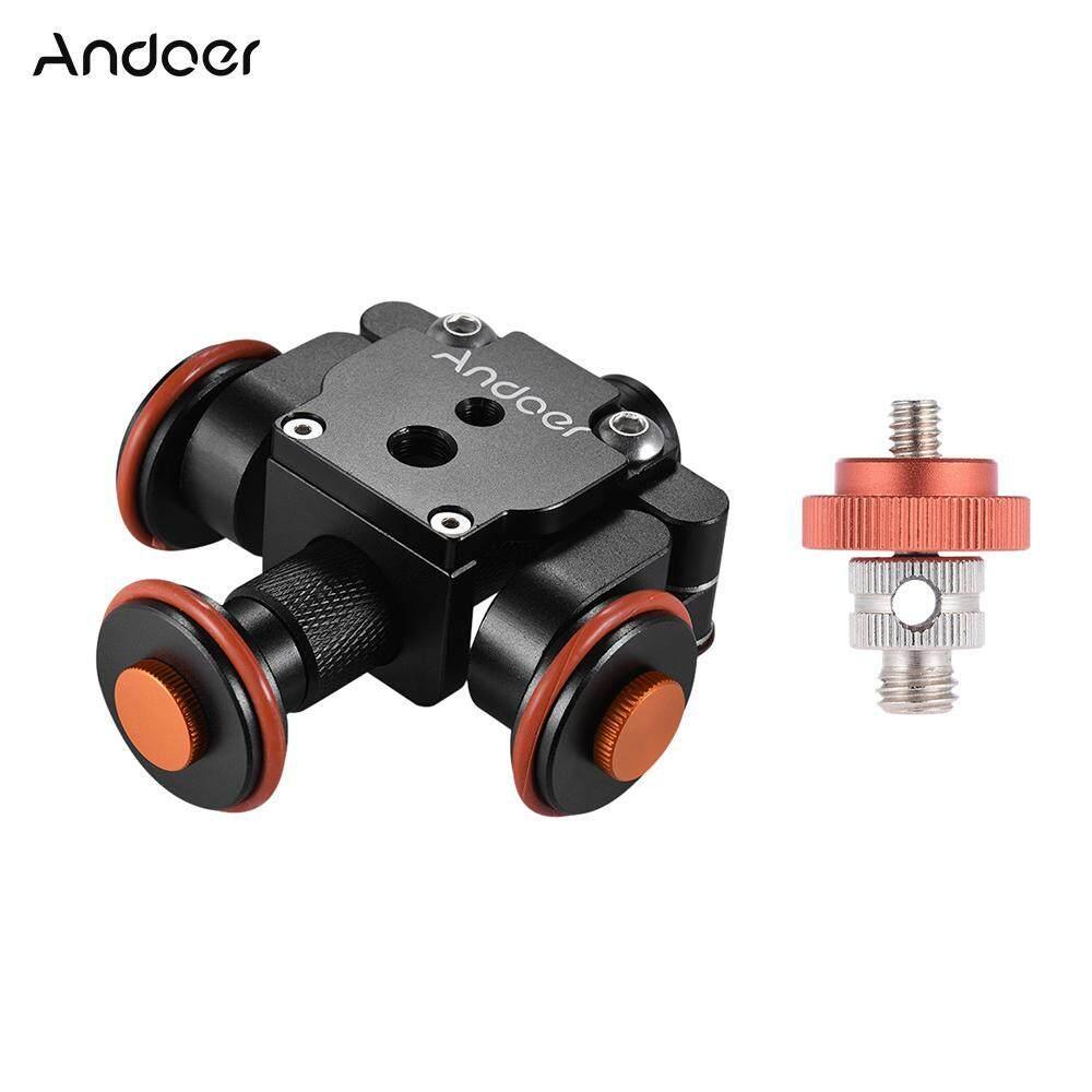 Andoer Listrik Bermotor Kamera Otomatis Kerek Video Skater Geser 3 Roda Pulley Mobil untuk Perkakas Bertualang DSLR untuk iPhone X 8 7 Plus 6 S smartphone untuk GoPro Hero 5/4/3 +/3 ACTION Kamera Olahraga-Intl