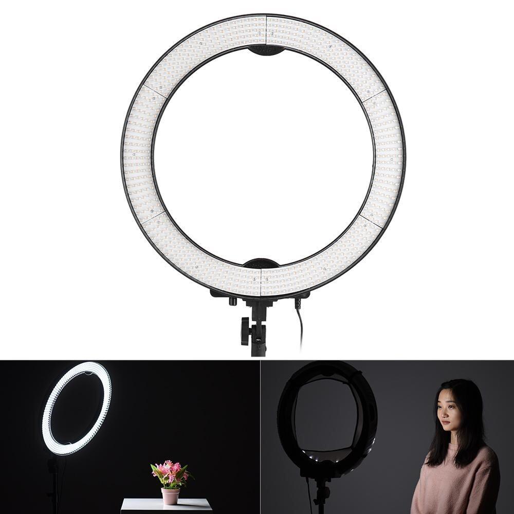 Andoer LA-650D 5500 K 40 W Ring Digital Fotografi Lampu Studio dengan 600 Lampu Stepless Penyesuaian W/Kain Lembut dan Tas -Intl