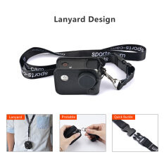 Andoer Multifunctional Clip-On Sports Camera Protecive Carrying Hanging Case Bag With Neck Lanyard Lens Cap For Sjcam Sj4000 Sj5000 Or The Same Size Action Cam By Tomtop.