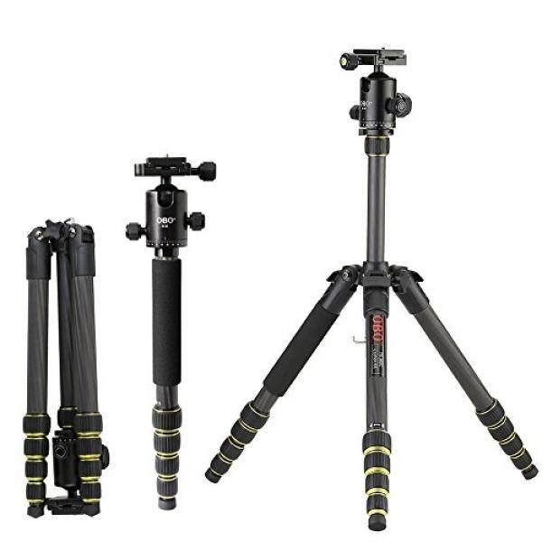 Andoer OBO Carbon Fiber Camera Tripod Unipod Monopod with Ball Head Foldable Portable Extendable for Canon 760D 7D2 70D 5D2 5DS 5DSR for Nikon D750 D7200 D5500 D810 D610 for Sony A7 A7S A7R A7RII - intl