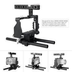 Andoer Profesional Pelindung Kamera Video Set Rig Pembuatan Film System W/15 Mm Rod untuk Sony A6000 A6300 A6500 Ildc Kamera Mirrorless Camcorder