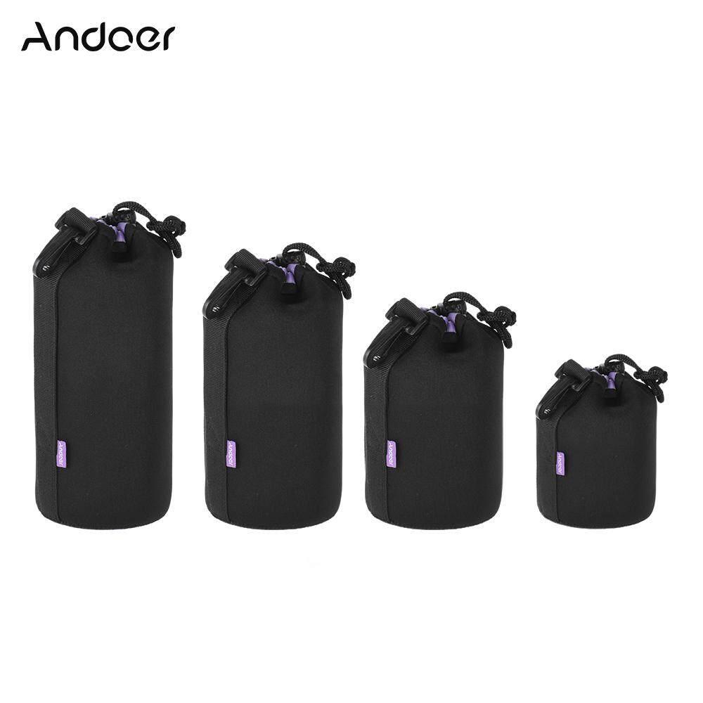 Andoer Shockproof Tahan Air DSLR Lensa Kantong Kit (S + M + L + XL) ekstra Tebal Lembut Tas Pelindung Set Pelindung untuk Perkakas Bertualang Lensa Tamron-Intl