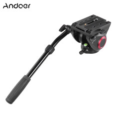 Andoer TP-65 Aluminum Alloy Fluid Drag Head Hydraulic Head Three-dimensional Tripod Head 360? Panoramic Shooting for Photography and Video Recording Max Load Capacity 15kg