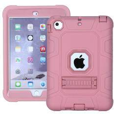 Anti-Dust Detachable 2-In-1 Shock Proof Protective Tpu + Pc Kickstand Cover For Ipad Mini 1/2/3 - Rose Gold By Tvcc.