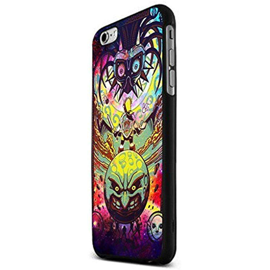 Anti Gores Penyerapan Lembut TPU Zelda Vs Majora Mask Di Nebula Ruang Kustom Case untuk iPhone 5/5 S/ 6/6 Plus (Hitam iPhone 6) baru DIY-Intl