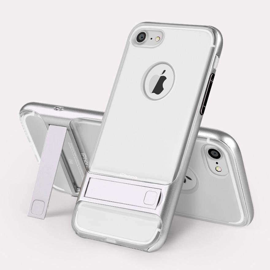 Perlindungan Anti Gores Ultra Tipis Sesuai Ganda Berlapis Anti Guncangan Keras Buah + Lembut TPU Case Sarung Lipat dengan Diri Penyangga untuk iPhone 7 (Versi Kristal Bening) -Internasional