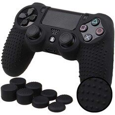 Anti-Slip Silicone Cover Skin Set For Ps4 /slim /pro Controller(controller Skin + Fps Pro Thumb Grips ) By Jiayo E-Commerce Store.