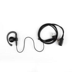 Areyourshop 1 Pcs 2 Pin Earhook Lubang Suara Headset PTT Mik untuk Motorolla GP88 GP280 GP350