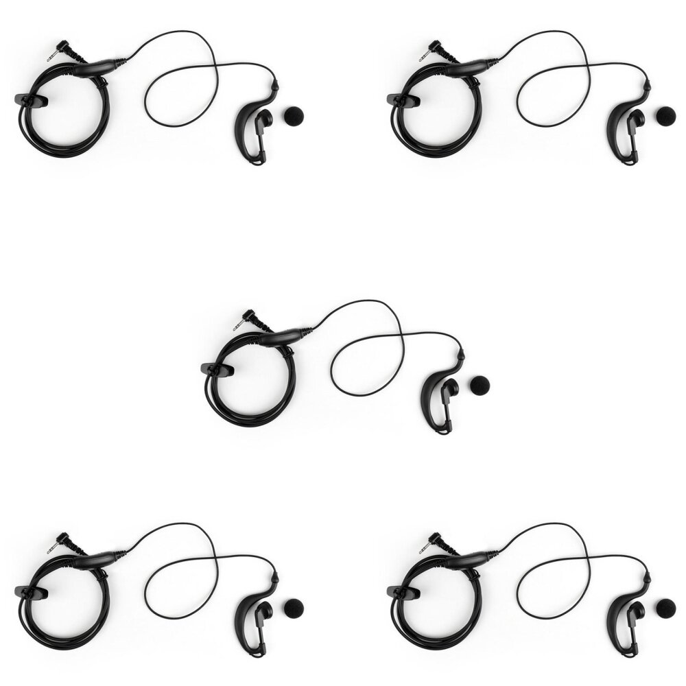 Areyourshop 5Pcs 2.5mm G-Shape Earpiece Headset Mic For Motorola T6200 T5420 T5428 Radio