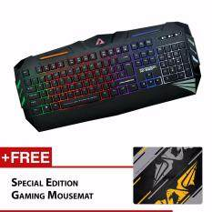 Armaggeddon Ak-666sFX Spill Proof Gaming Keyboard Free Special Edition Mousemat Malaysia