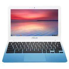 ASUS C201 11.6 Inch Chromebook (Rockchip, 4 GB, 16GB SSD, Pearl White/Light Blue) Malaysia