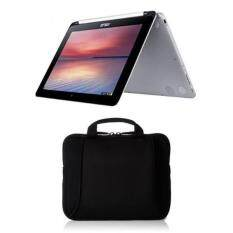ASUS Chromebook Flip 10.1-Inch Convertible 2 in 1 Touchscreen (Rockchip, 4 GB, 16GB SSD, Silver) & AmazonBasics 7-Inch to 10-Inch Laptop and Tablet Bag Set Malaysia