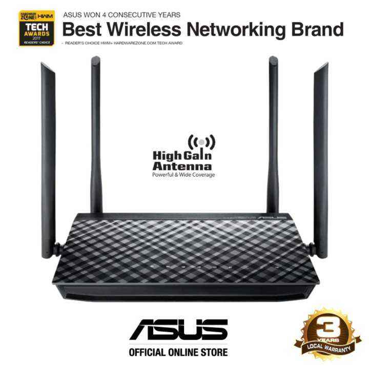 Asus rt ac1200g ac1200 dual band wifi router with four for Youtube certified mechanic shirt